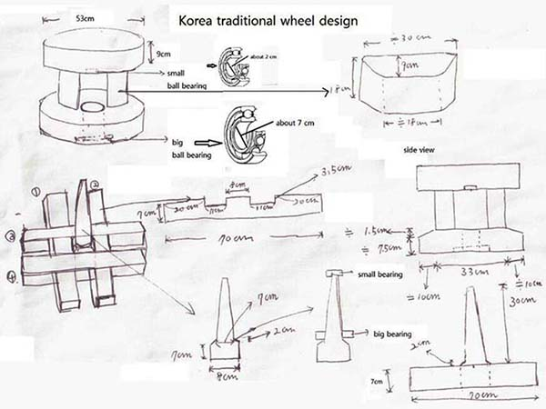 pottery kick wheel plans. korean traditional wheel design pottery kick plans t